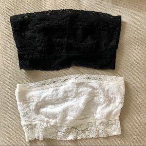 Free people lace bralette black white medium